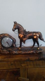 Antique Bronze Horse clock