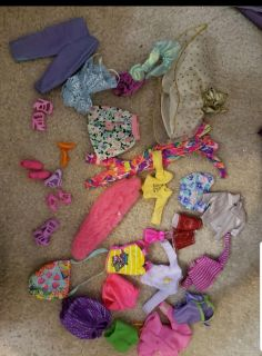 Barbie doll clothes and shoes