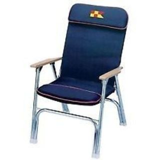 """Buy Garelick 35029 Padded Folding Deck Chair 24"""" High Frame Seat Navy Boat Marine LC motorcycle in Hollywood, Florida, United States, for US $76.43"""