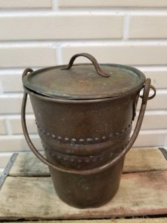 Antique berry picking pail