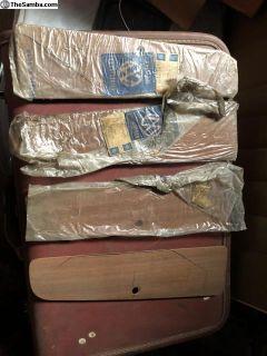 NOS Karmann Ghia wood grain glove box doors