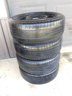 """Set of 4 wheels and tires 16"""" 5x4.5 215/60/R16"""