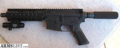 For Sale: AR-15 Pistol .300 Blackout Blk 9 & Green Laser - New*