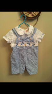 Boy bunny smocked outfit