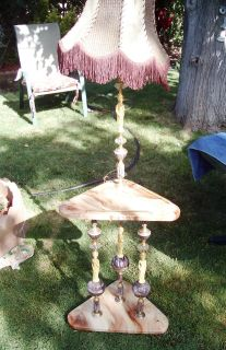 Antique Table Lamp With Shade