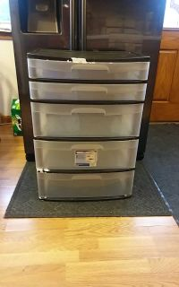 Sterilite 5 drawer tower wide large