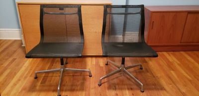TWO EAMES OFFICE CHAIRS
