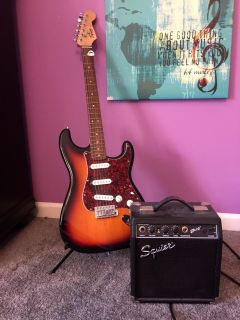 Like New The Squier by Fender Affinity Series Stratocaster Electric Guitar
