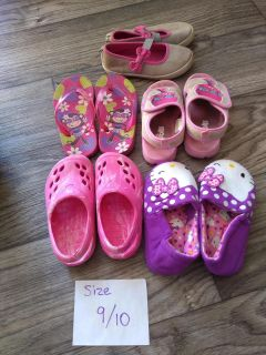 Lot of sandals, slippers and croc style