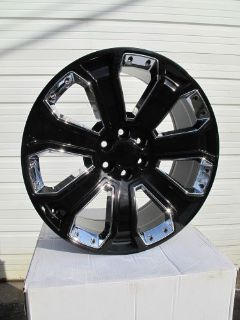 "Sell 24"" GMC YUKON SIERRA CHEVROLET SILVERADO FACTORY STYLE BLACK CHROME WHEELS 5660 motorcycle in Walled Lake, Michigan, United States, for US $1,599.99"