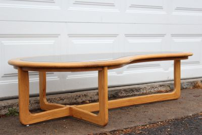 Mid Century Modern Lane Kidney Shape Coffee Table