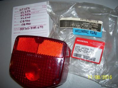 Sell HONDA NEW TAILLIGHT TAIL LIGHT LENS 33702-329-671 MT's/XL'S CT'S MANY OTHERS motorcycle in Middletown, Ohio, United States