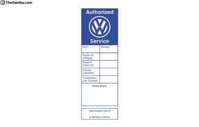 Service Decal (Free Shipping)