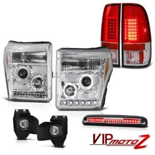 Purchase 11-16 Ford F250 High Stop Light Fog Lights Red Tail Brake Projector Headlamps motorcycle in Walnut, California, United States, for US $543.37