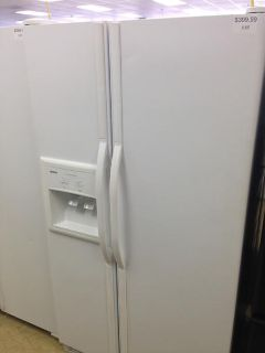 $399.99, 25 Cubic foot White Kenmore Side by Side Refrigerator-i169