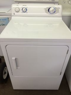 GE Gas Dryer in White