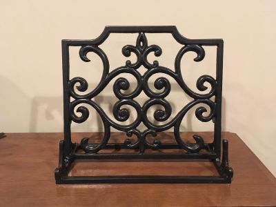 Wrought Iron Cook Book Stand in Excellent Condition