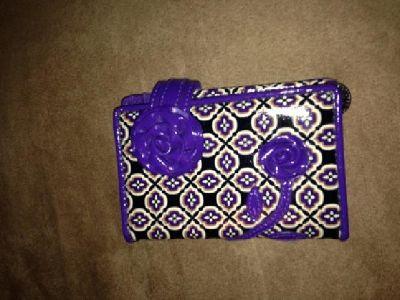 $35 OBO Vera Bradley Simply Violet Frill Wallet