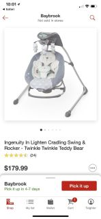 Ingenuity swing and bouncer. Perfect condition.