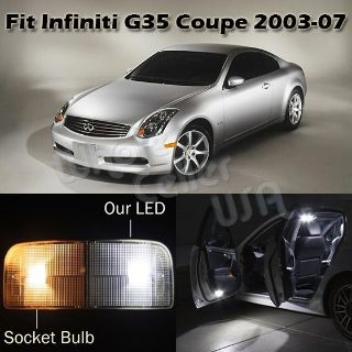 Buy 7 x White LED Lights Interior Package Deal For 2003-2007 Infiniti G35 Coupe motorcycle in Cupertino, CA, US, for US $16.99