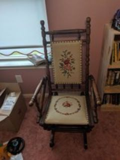 antique gliding/rocking chair