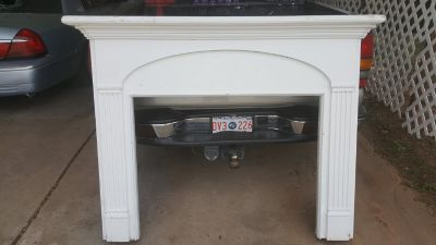 fire place surround, antique, approximately 60 years old