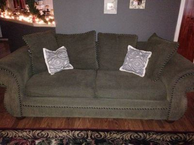Green couch for sale- good condition