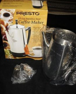 Presto Stainless Steel 12 Cup Coffeemaker