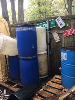 Used 35 gallon plastic drums for sale