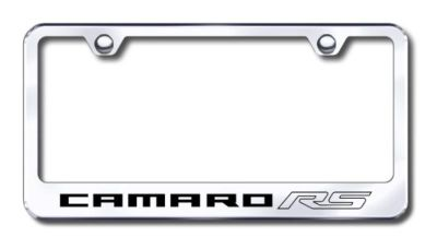 Sell GM Camaro RS Engraved Chrome License Plate Frame Made in USA Genuine motorcycle in San Tan Valley, Arizona, US, for US $30.98
