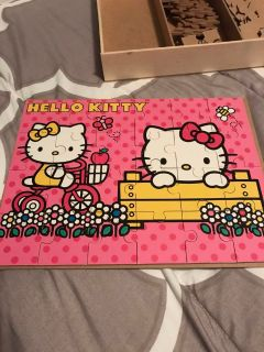 Hello kitty wooden puzzles