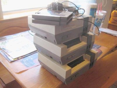 3 NES Nintendo game consoles(as is)
