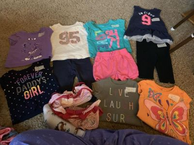 Girls Sz 9 and 9-12 month summer clothing lot