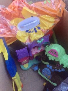 Free box of toys- huge float and girl/boy functional toys