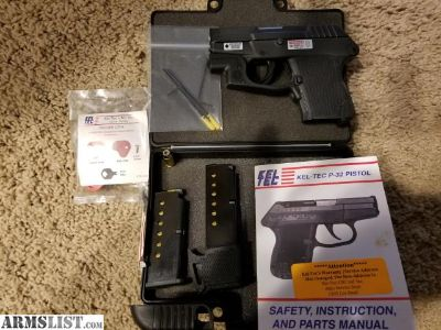 For Sale: Kel Tec P32 with crimson trace and much ammo
