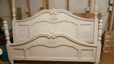White Distressed Shabby Chic Bedroom Suit