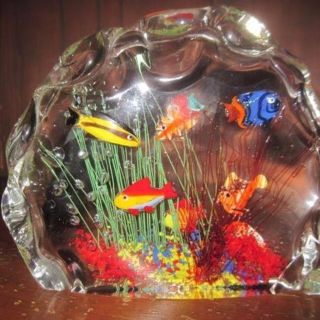 ITALIAN MURANO ART GLASS SCULPTURE - REDUCED TO $75