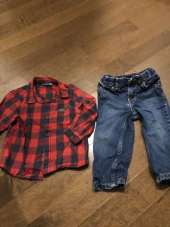 Jeans and shirt outfit 18m