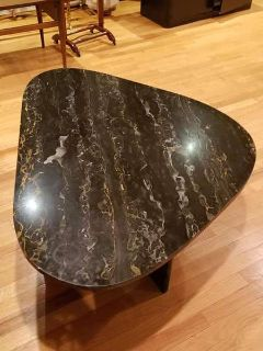 Vintage Black and Gold Marble Coffee Table