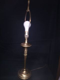 Lamp, Brass Vintage Table