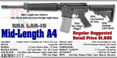 For Sale: Rock River Arms AR-15, New