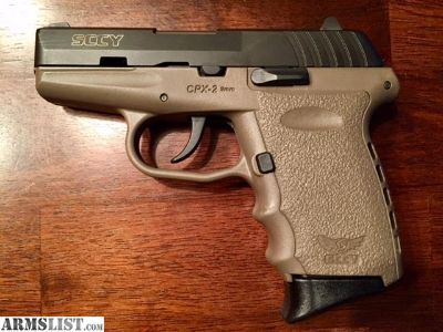 For Trade: SCCY CPX-2 FDE 9mm w/Aliengear holster