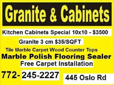 Kitchen cabinetry Granite contractor