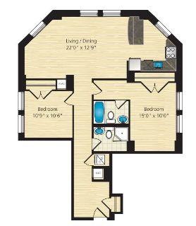 $8070 2 apartment in Dupont Circle