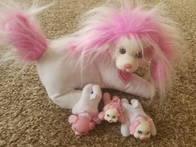 dog with babies