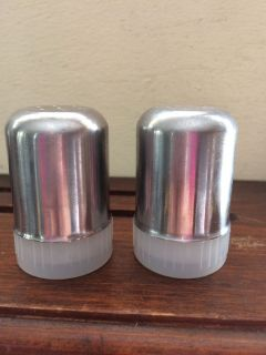 salt and pepper shakers stainless steel