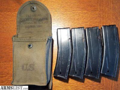 For Sale: M1 Carbine USGI 30 rnd Mags & Pouch