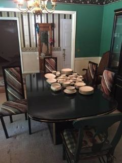 Black Lacquer Dinning Room Table