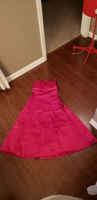 Size 4 David bridal gown red