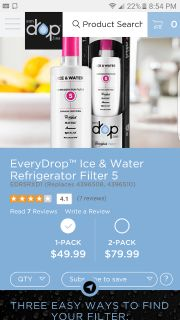 Refrigerator ice & water filter 5 new